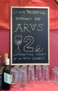 wine & tapa tasting in Northern Spain, Arus, rioja, La Rioja