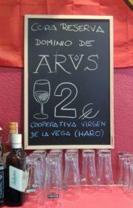 wine & tapa tasting in Northern Spain, Arus, rioja, La Rioja